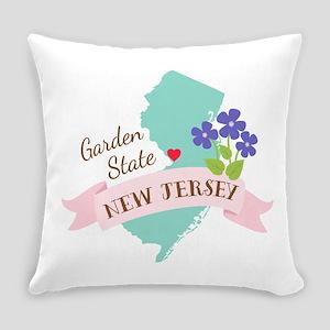 New Jersey Garden State Outline Violet Flower Ever