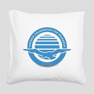 Blue Phornix Square Canvas Pillow