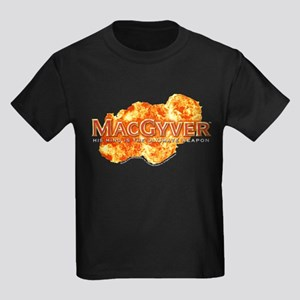 MacGyver Logo Kids Dark T-Shirt