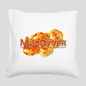 MacGyver Logo Square Canvas Pillow