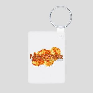 MacGyver Logo Aluminum Photo Keychain