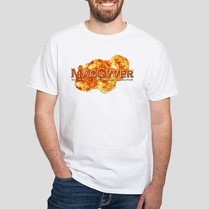 MacGyver Logo White T-Shirt
