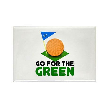 """""""Go for the Green"""" Rectangle Magnet (10 pack)"""