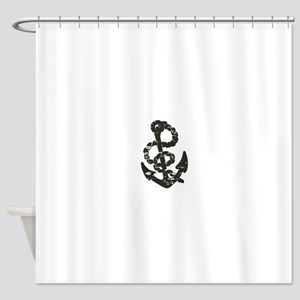 Vintage Anchor Shower Curtain