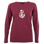 Vintage Anchor Plus Size Long Sleeve Tee