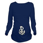 Vintage Anchor Long Sleeve Maternity T-Shirt