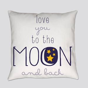 To The Moon Everyday Pillow