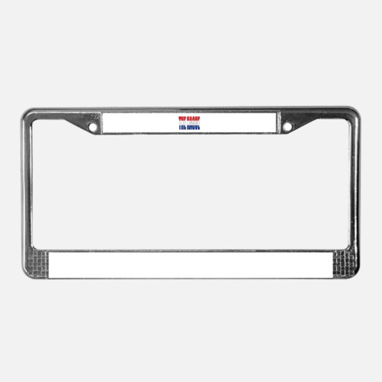 The Hague License Plate Frame