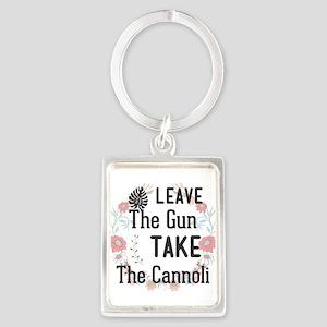 Leave The Gun. Take The Cannoli Keychains