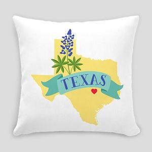 Texas State Outline Bluebonnet Flower Everyday Pil