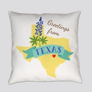 Texas State Outline Bluebonnet Flower Greetings Ev