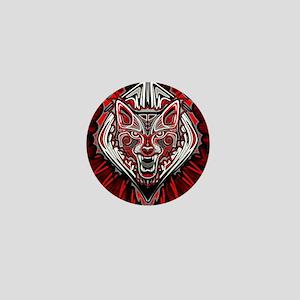 Wolf Tattoo Style Haida Art Mini Button