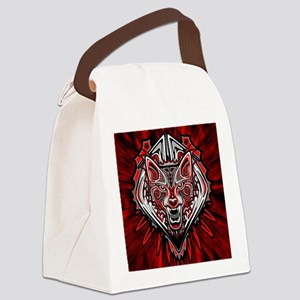 Wolf Tattoo Style Haida Art Canvas Lunch Bag
