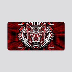 Wolf Tattoo Style Haida Art Aluminum License Plate