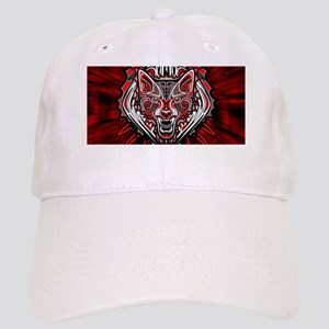 Wolf Tattoo Style Haida Art Cap