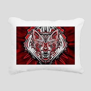 Wolf Tattoo Style Haida Art Rectangular Canvas Pil