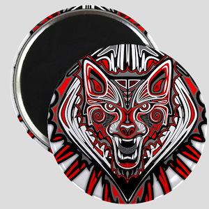 Wolf Tattoo Style Haida Art Magnets