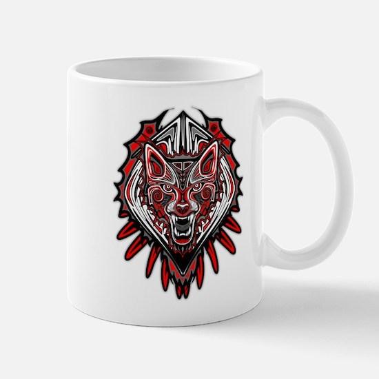 Wolf Tattoo Style Haida Art Mugs