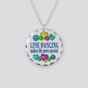 Line Dancing More Special Necklace Circle Charm