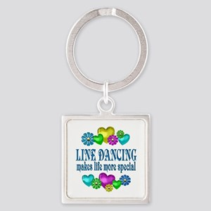 Line Dancing More Special Square Keychain