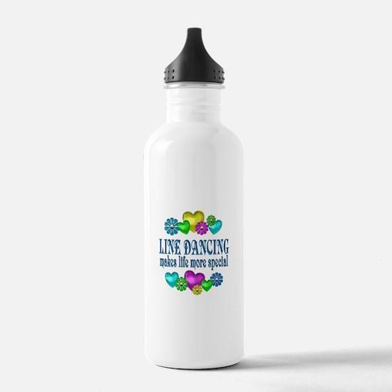 Line Dancing More Spec Water Bottle