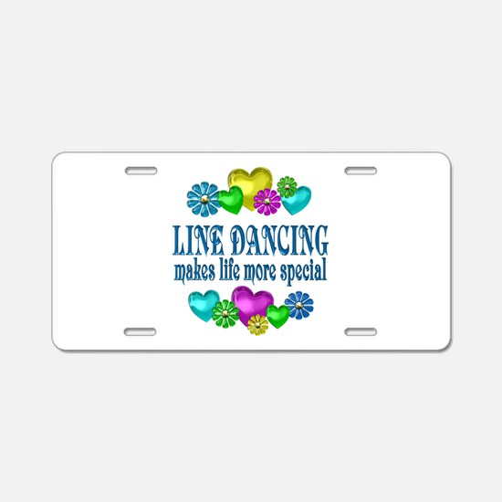 Line Dancing More Special Aluminum License Plate