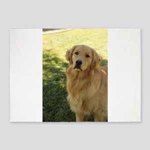golden retriever n 5'x7'Area Rug