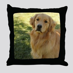 golden retriever n Throw Pillow