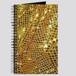 Gold Sparkling Sequin Glitter Journal