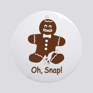 Oh, Snap! Gingerbread Man Round Ornament