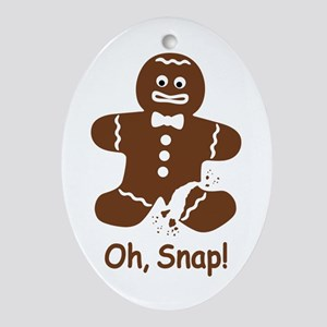 Oh, Snap! Gingerbread Man Oval Ornament