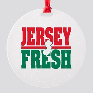Jersey Fresh Round Ornament