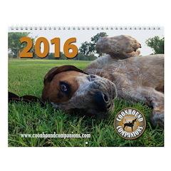 2016 Coonhound Companions Wall Calendar