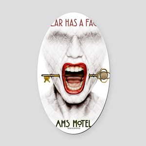 AHS Hotel Fear Has a Face Oval Car Magnet