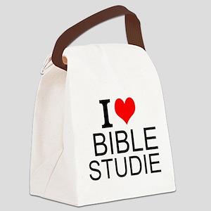 I Love Bible Studies Canvas Lunch Bag