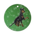 Manchester Terrier (button Ears) Round Ornament