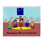 Philosophy Hanukkah Throw Blanket