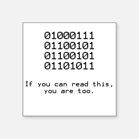 """Funny Programming Square Sticker 3"""" x 3"""""""
