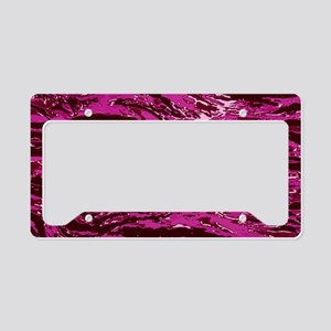 Pink Striped Camo License Plate Holder
