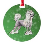 Chinese Crested Dog Ornament