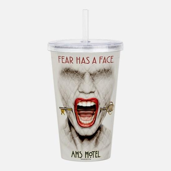 AHS Hotel Fear Has a F Acrylic Double-wall Tumbler