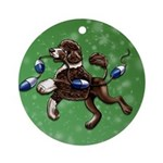 Portuguese Water Dog (Brown) Round Ornament