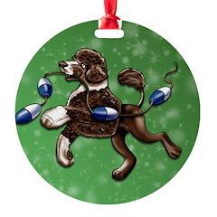 Portuguese Water Dog (Brown) Ornament