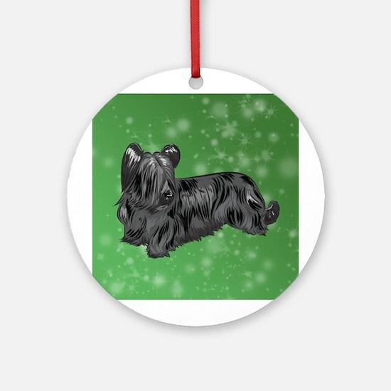 Skye Terrier (Black) Round Ornament