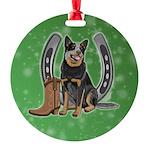 Australian Cattle Dog Round Ornament