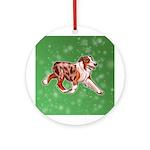 Australian Shepherd (Red Merle) Round Ornament