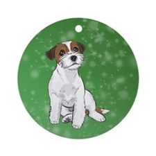 Russell Terrier Round Ornament
