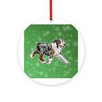 Australian Shepherd (Blue Merle) Round Ornament