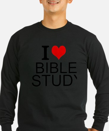 I Love Bible Study Long Sleeve T-Shirt
