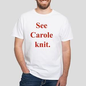 Carole Knits White T-Shirt